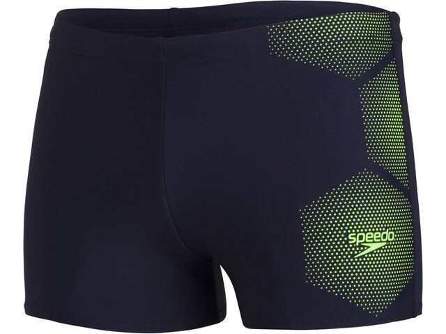 speedo Tech Placement Aquashorts Men, true navy/zest green
